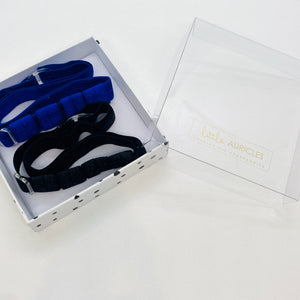 Hearing Aid Headbands - Blue and Black