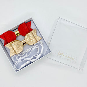 Hearing Aid Headbands - Gold & Red