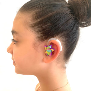 Rainbow Butterflies Hearing Aid Accessory Kit