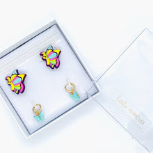 Load image into Gallery viewer, Rainbow Butterflies Hearing Aid Accessory Kit