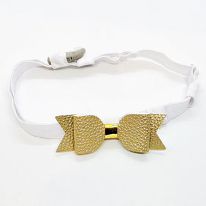 Hearing Aid Headbands - Gold & White