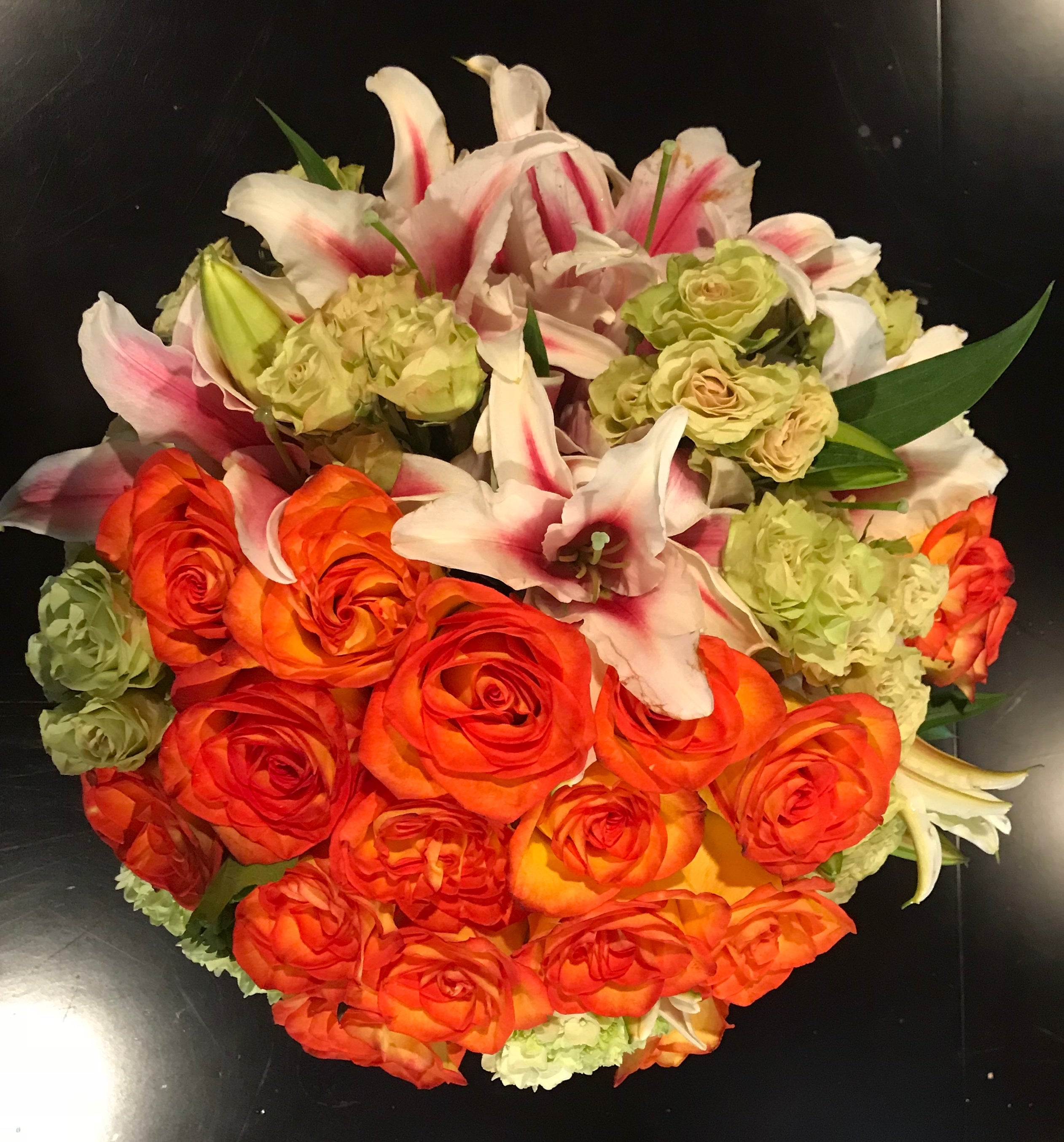 Orange and Green bouquet
