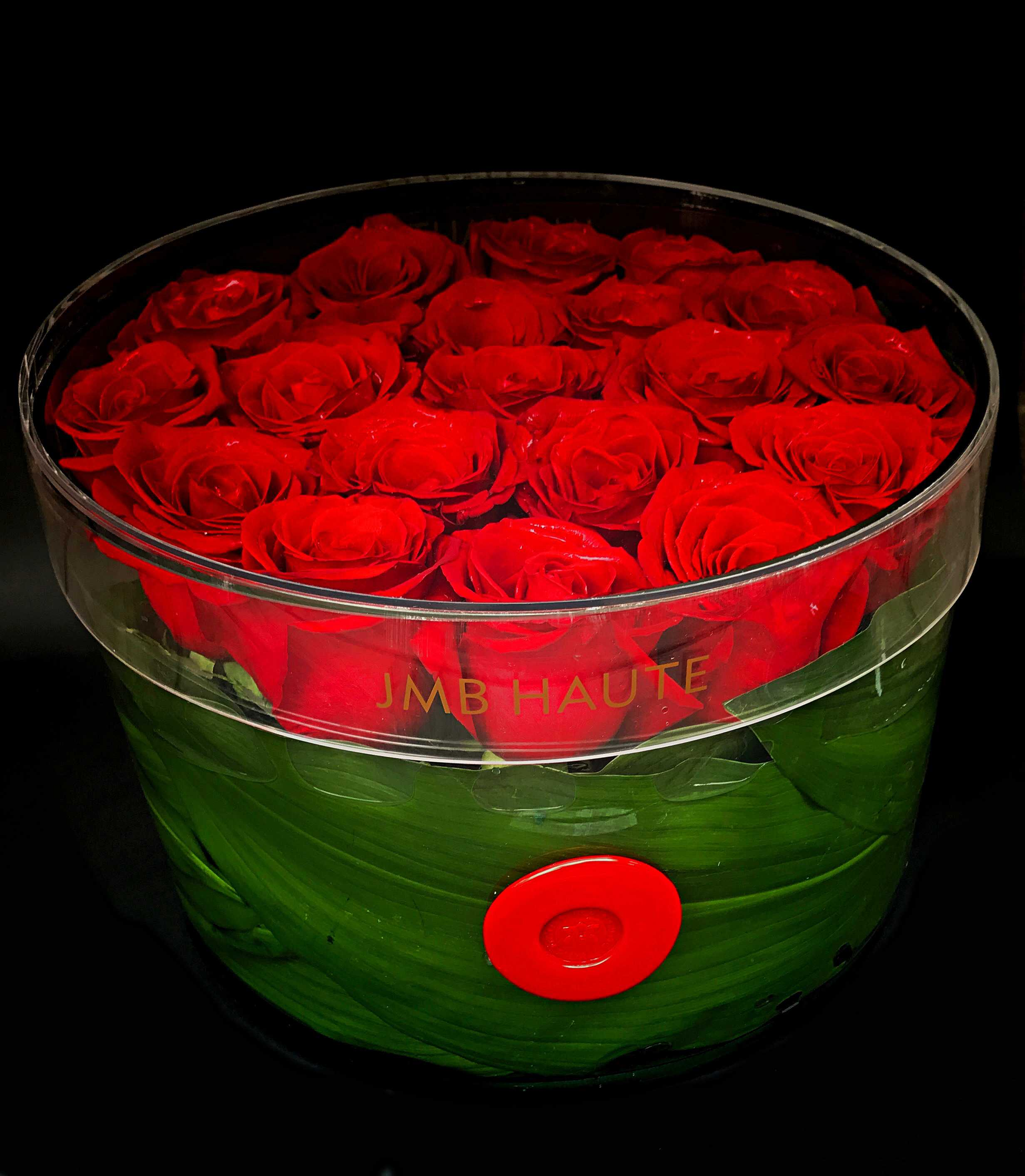 Roses in Round Box XL