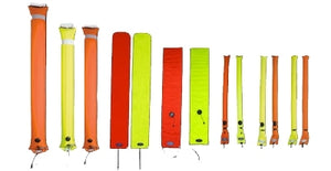 Halcyon Super Big Diver's Alert Marker, 6' (1.8 m) long, closed circuit Orange