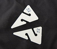 Halcyon Line Arrows, white w/ blue H logo, each