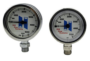 Halcyon Submersible pressure gauge for Stage, 0-400 bar, No Hose