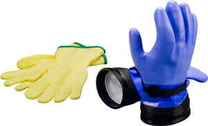 "DUI Dry ZipGloves ""Heavy-Duty"" (Blue) & Liners"