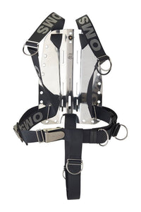 OMS SmartStream Webbing, including AL Hardware and Crotch Strap Black / Gray