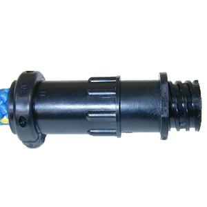 Connector, 4 pin female con. (J002). Incl. Small o-ring, large hood (J047)/4 pins J043