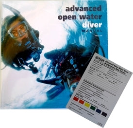 PADI Advanced Open water Book w/ slate
