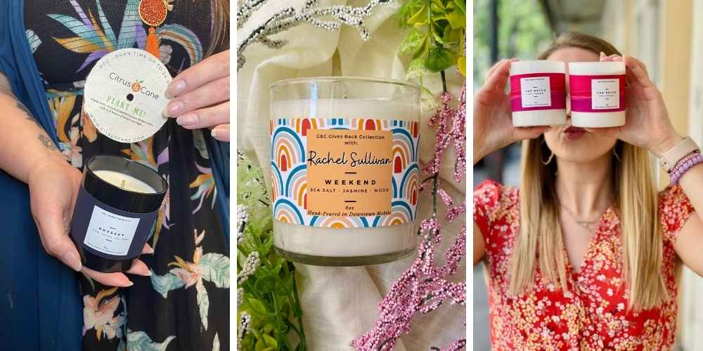Hand poured candles in the South
