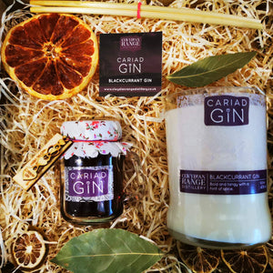 Cariad Gin Blackcurrant 100ml Gin & Soy Wax Candle Gift Box
