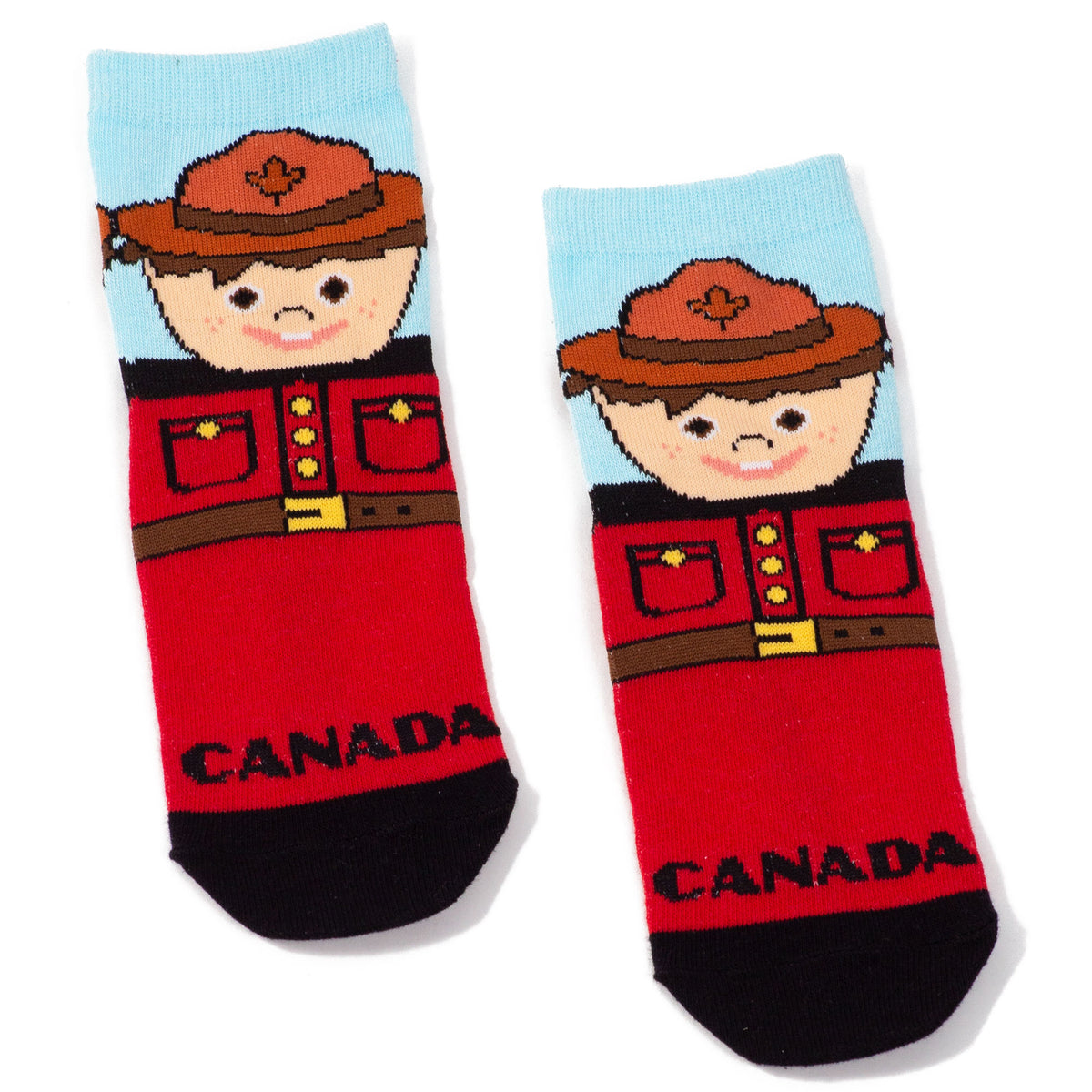 Childrens Canadian Mountie Socks