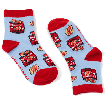 Childrens Ketchup Chips Socks