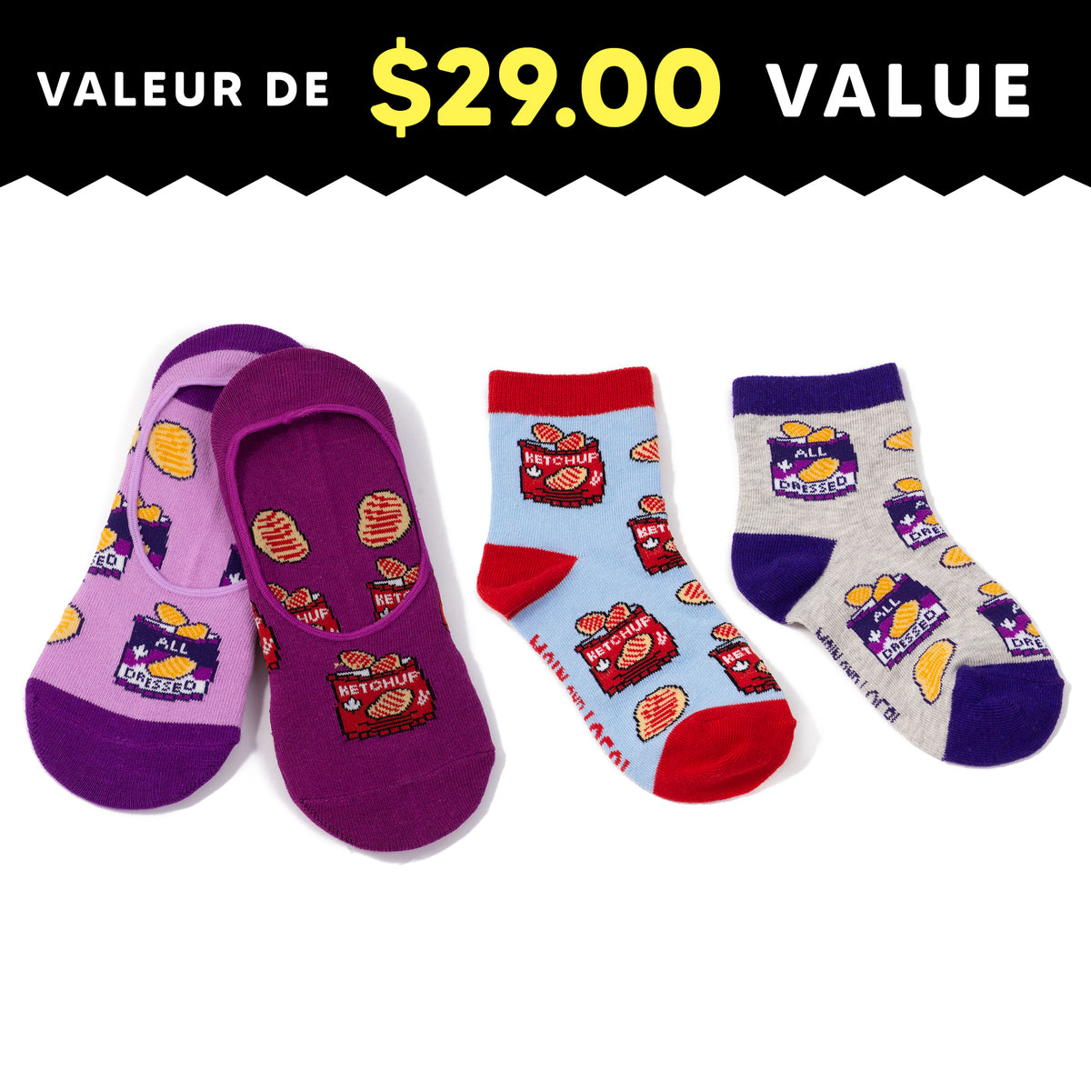 Mommy & Me Chips Socks Pack