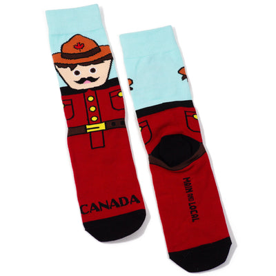 Canadian Mountie Socks - Main and Local