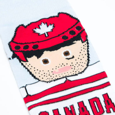 Canadian Hockey Player Socks - Main and Local