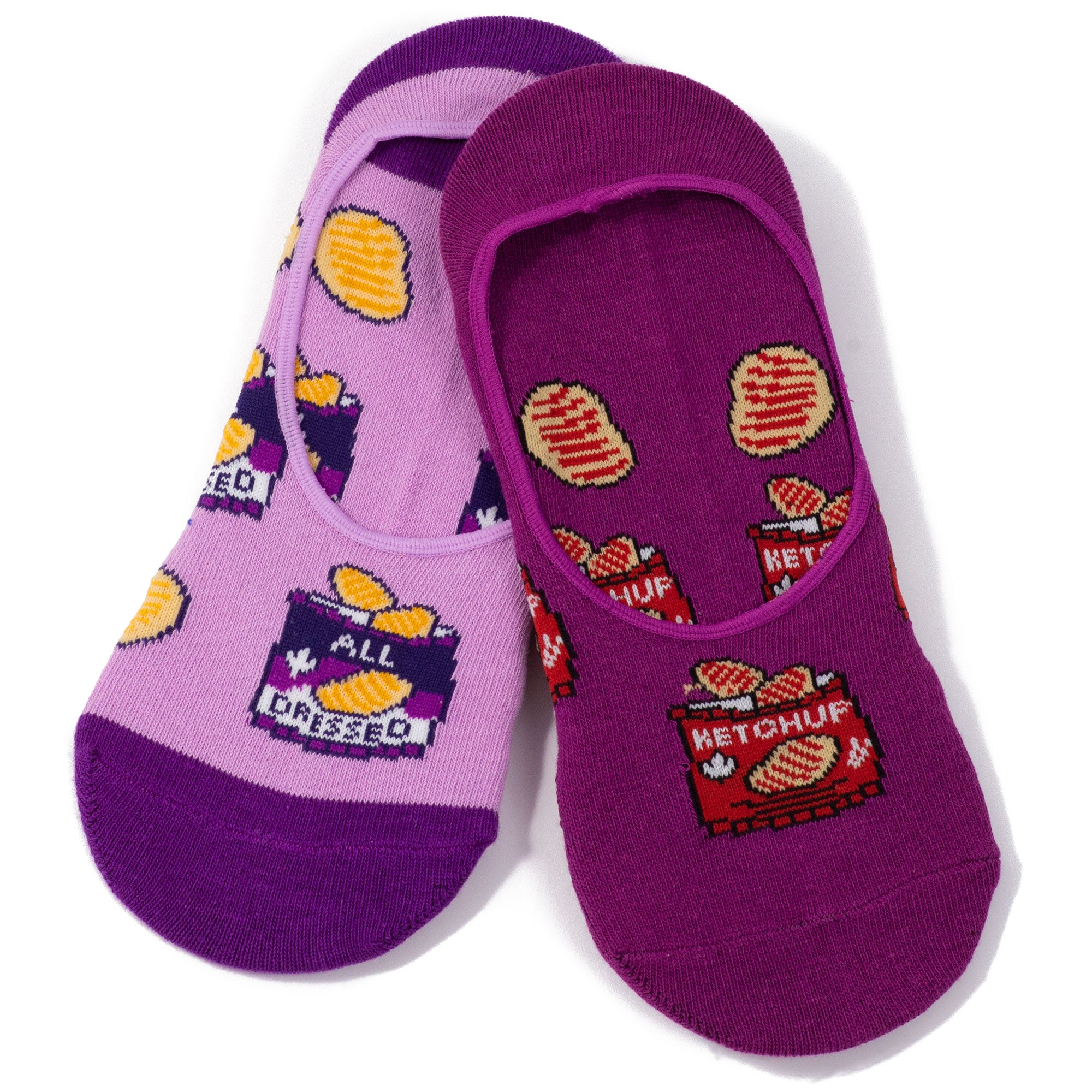 Womens Canadian Ketchup & All Dressed Chips Socks