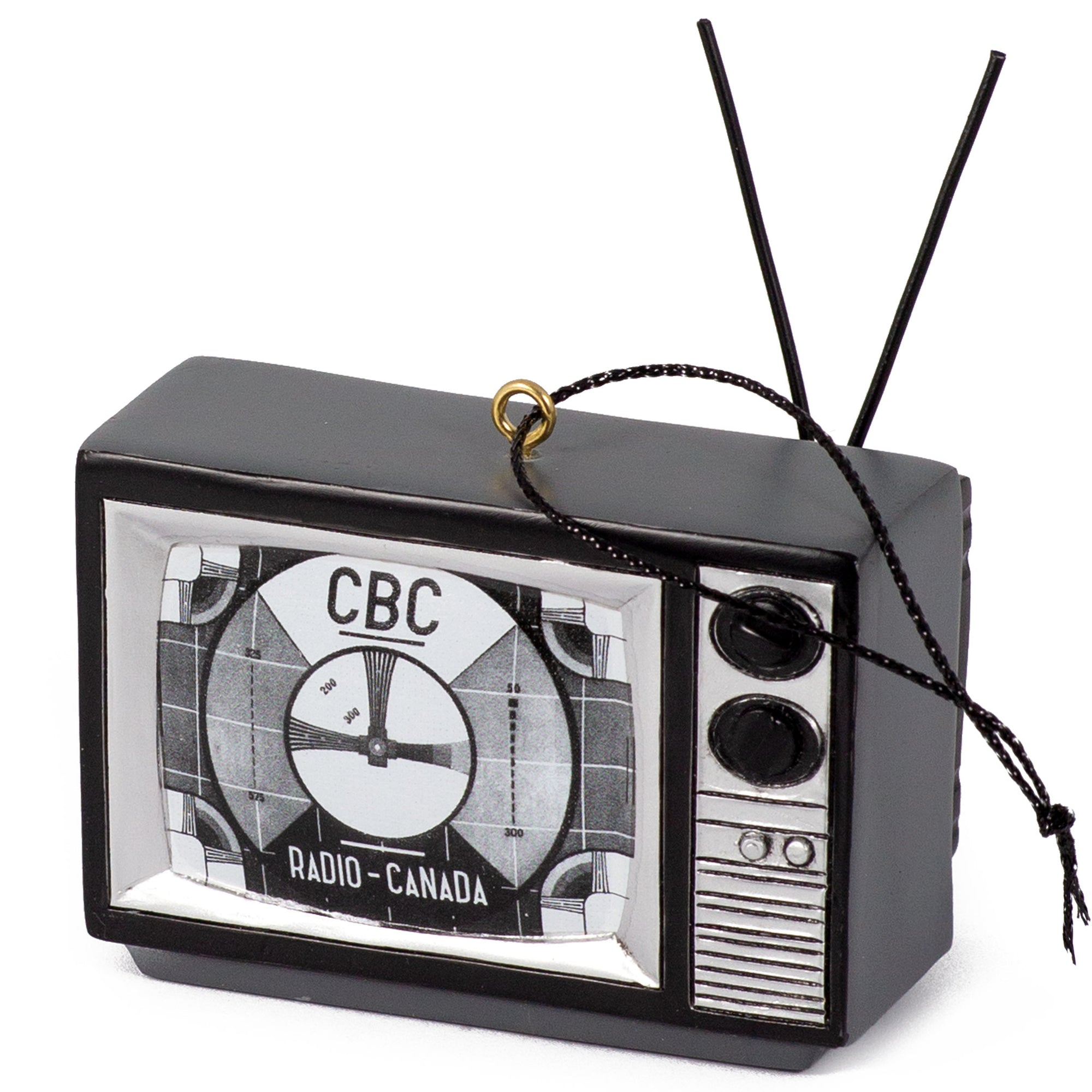 TV -  Black & White Signal Ornament