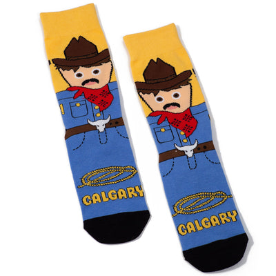 Calgary Cowboy Socks - Main and Local