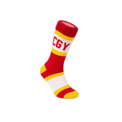 Calgary City Stripes Socks - Main and Local