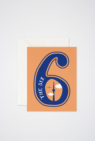 The 6 Greeting Card - Main and Local