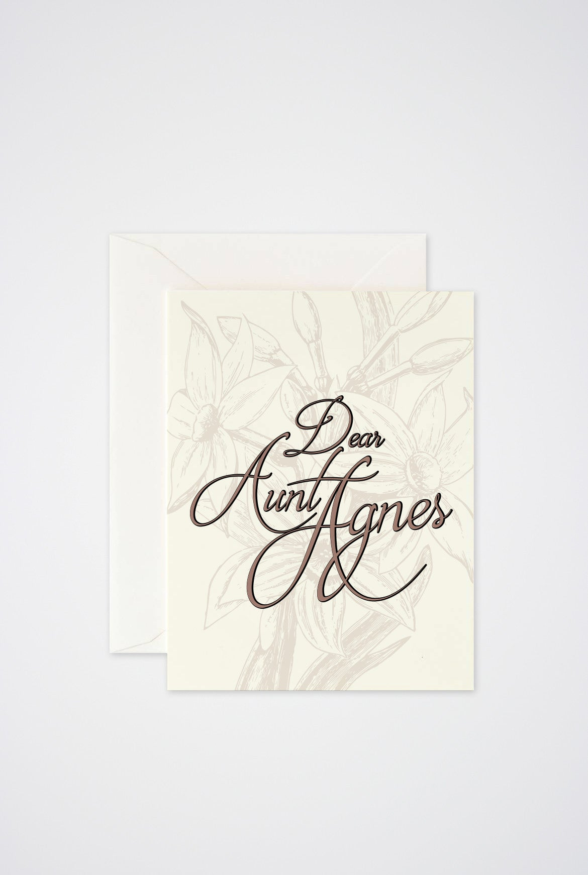 Dear Aunt Agnes Greeting Card - Main and Local