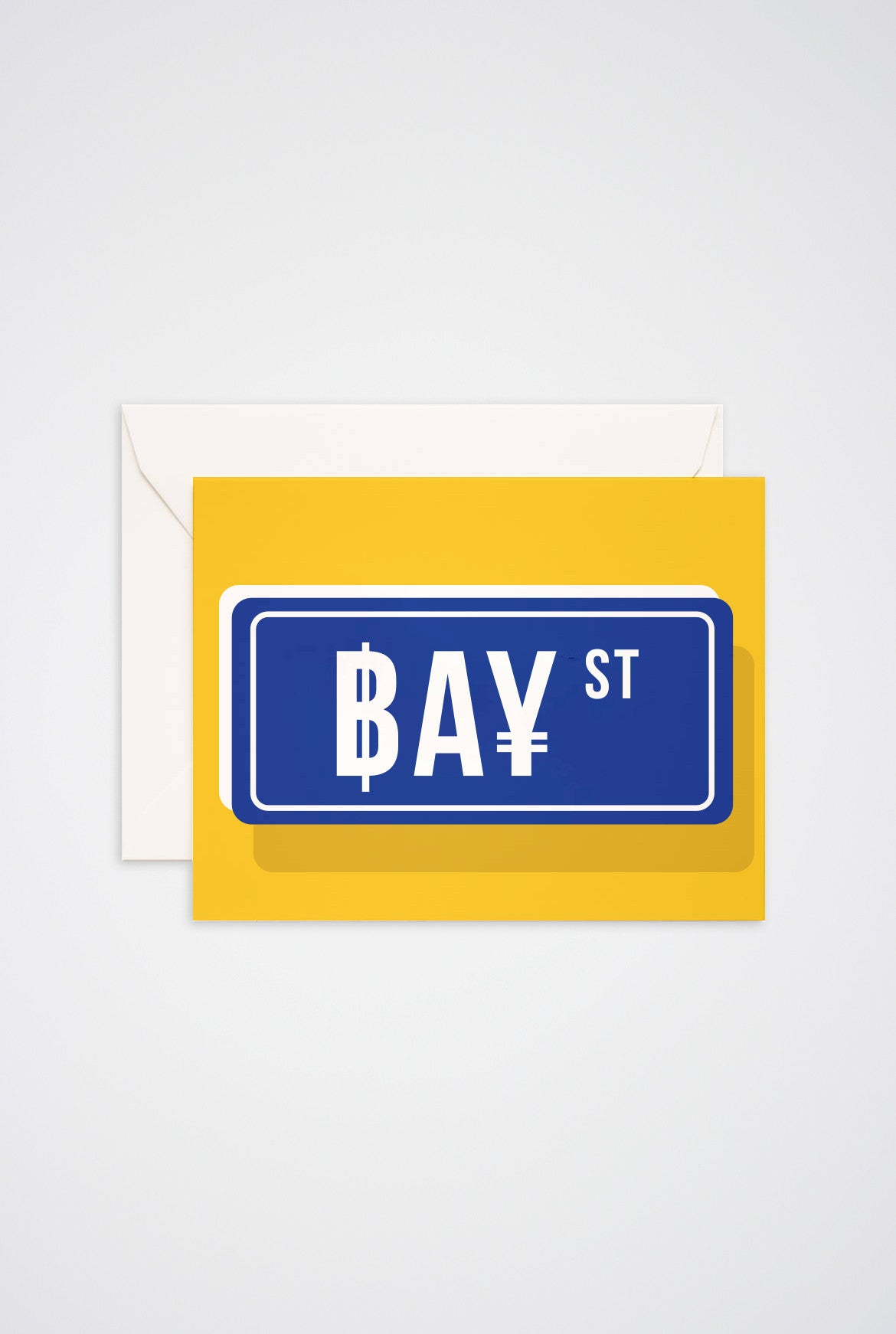 Bay St Greeting Card - Main and Local