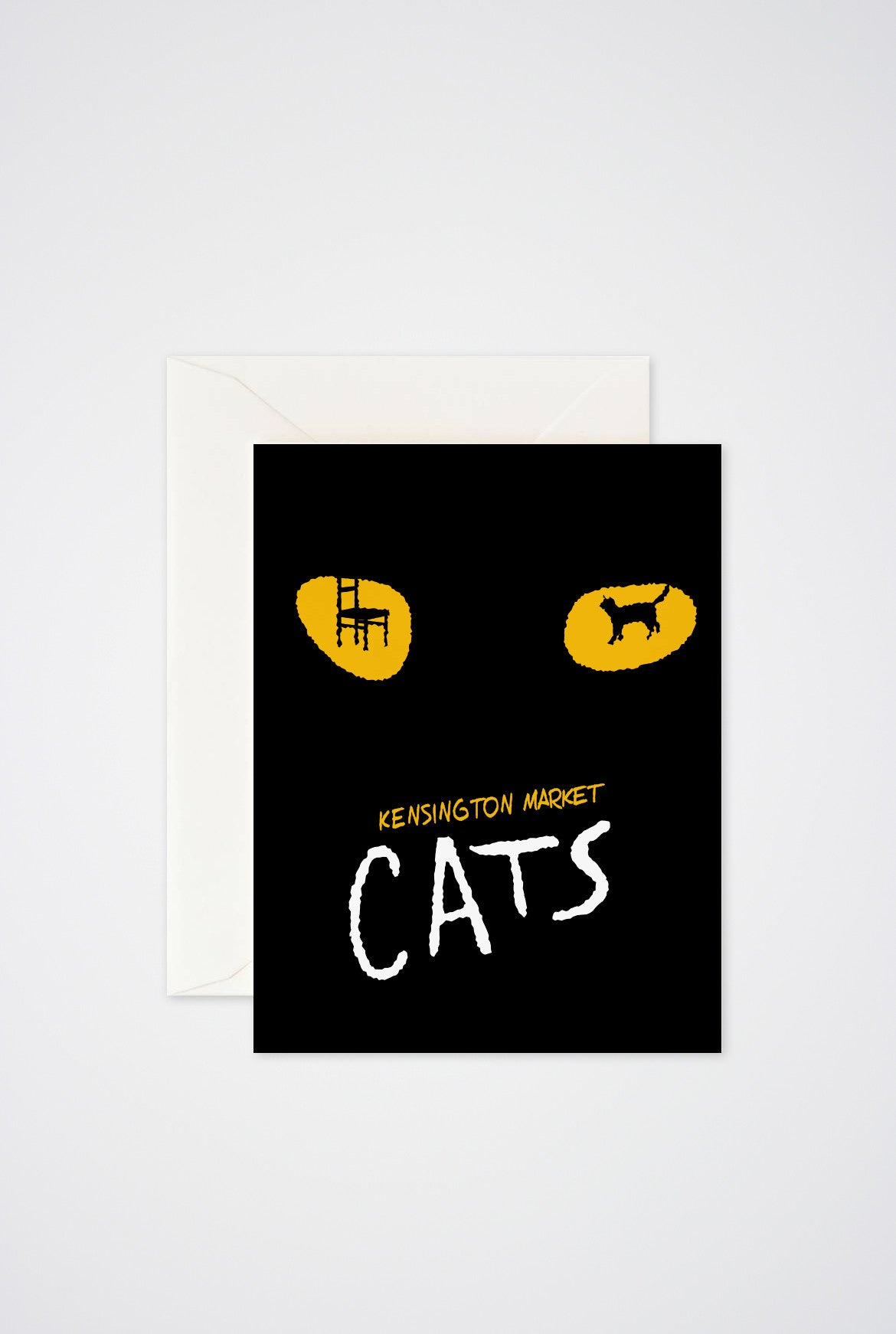 Kensington Cats Greeting Card - Main and Local