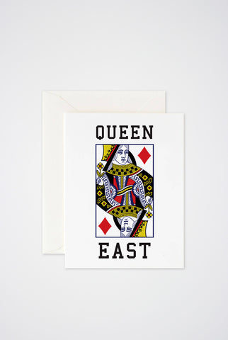 Queen East Greeting Card - Main and Local