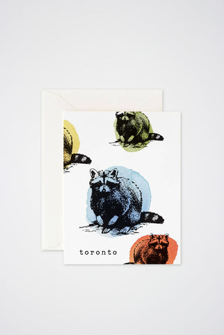 Toronto Raccoons Greeting Card - Main and Local