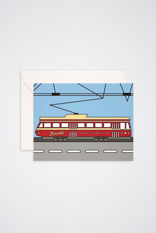 Toronto Streetcar Greeting Card - Main and Local