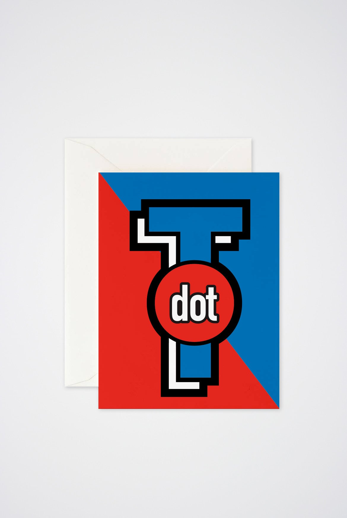 T Dot Greeting Card - Main and Local