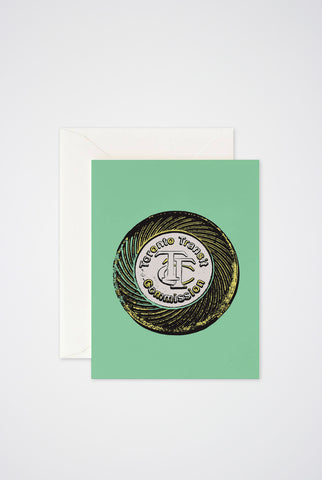 Toronto TTC Token Greeting Card - Main and Local