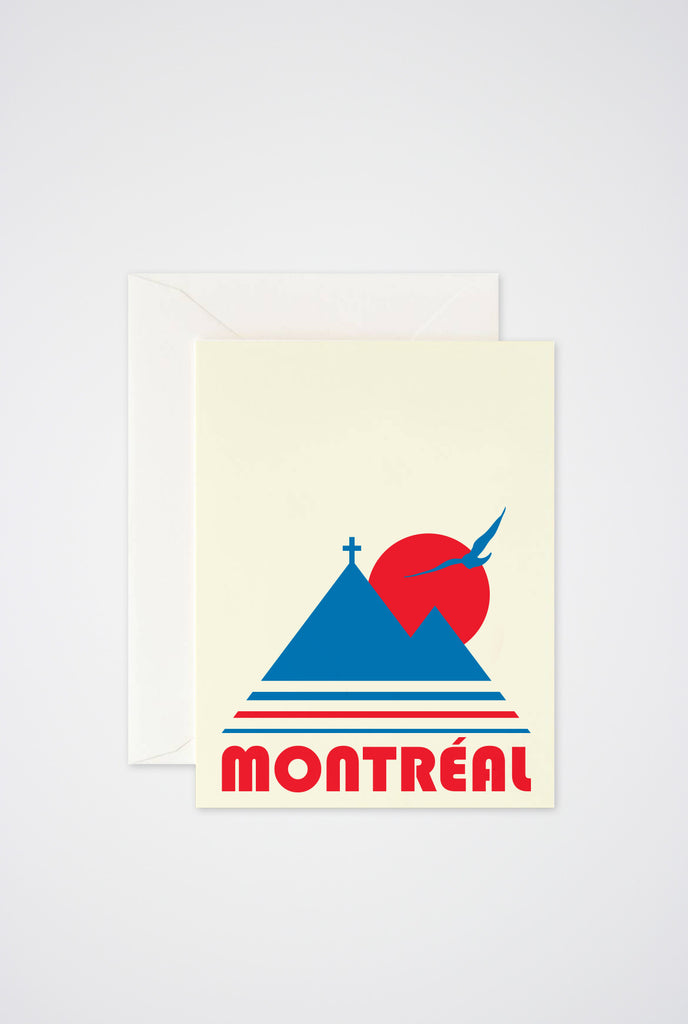 Montreal Vintage Greeting Card - Main and Local