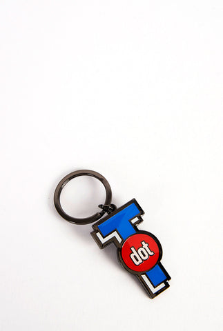 T Dot Icon Keychain - Main and Local