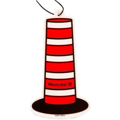 Montreal Construction Cone Air Freshener - Main and Local