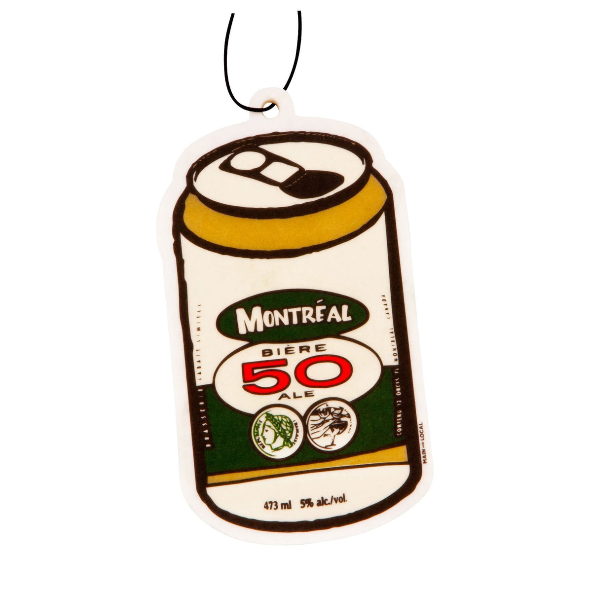 Montreal Beer Can Air Freshener - Main and Local
