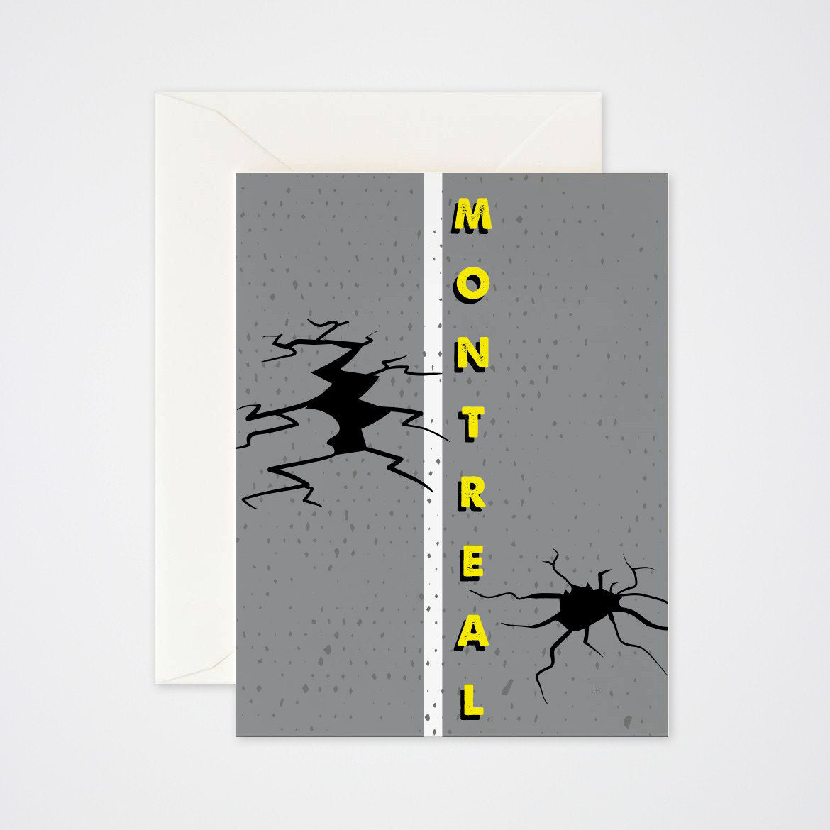 Montreal Potholes Greeting Card - Main and Local