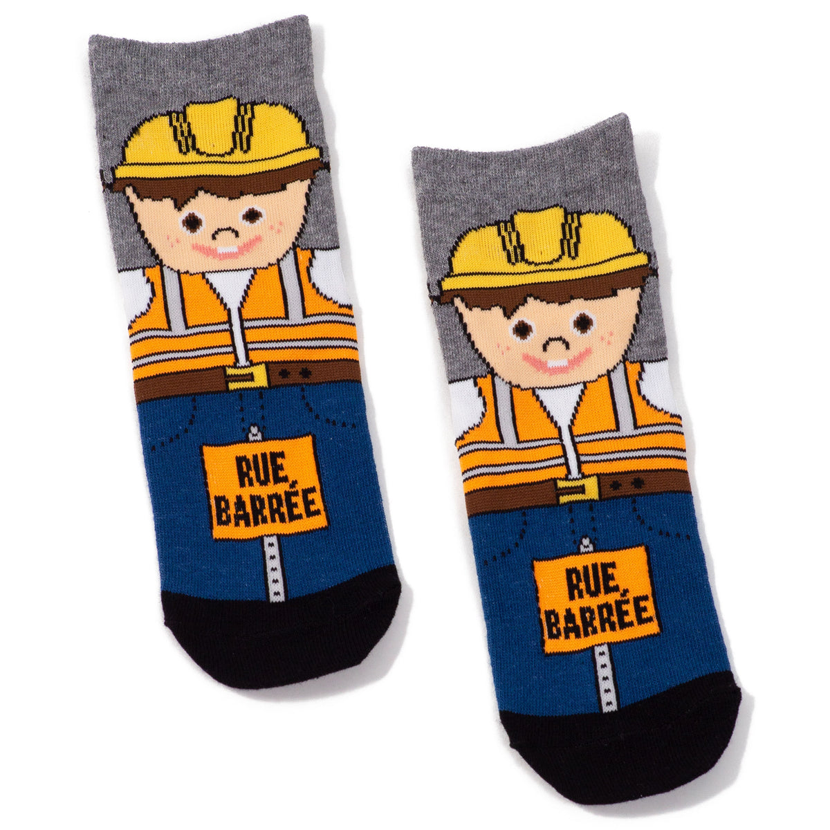 Childrens Montreal Construction Worker Socks