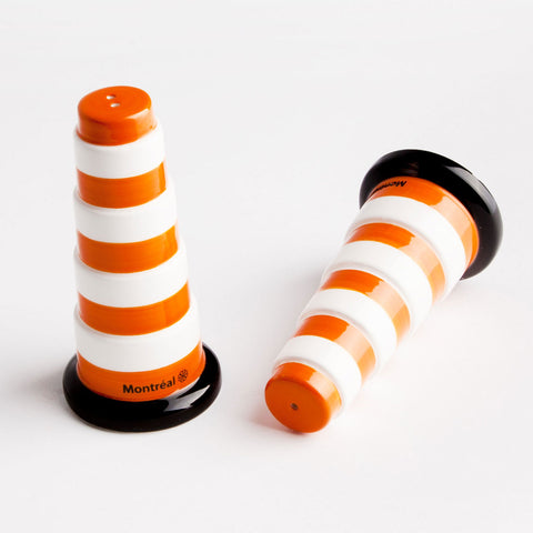 Traffic Cone Salt and Pepper Shakers - Main and Local