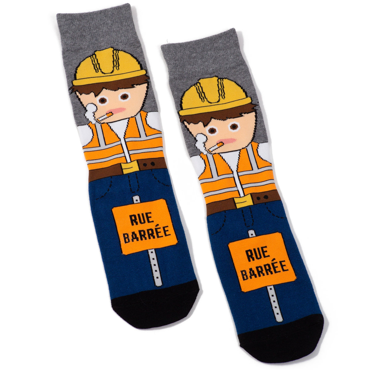 Montreal Construction Worker Socks - Main and Local