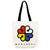 Montreal Flower Logo Tote Bag - Main and Local