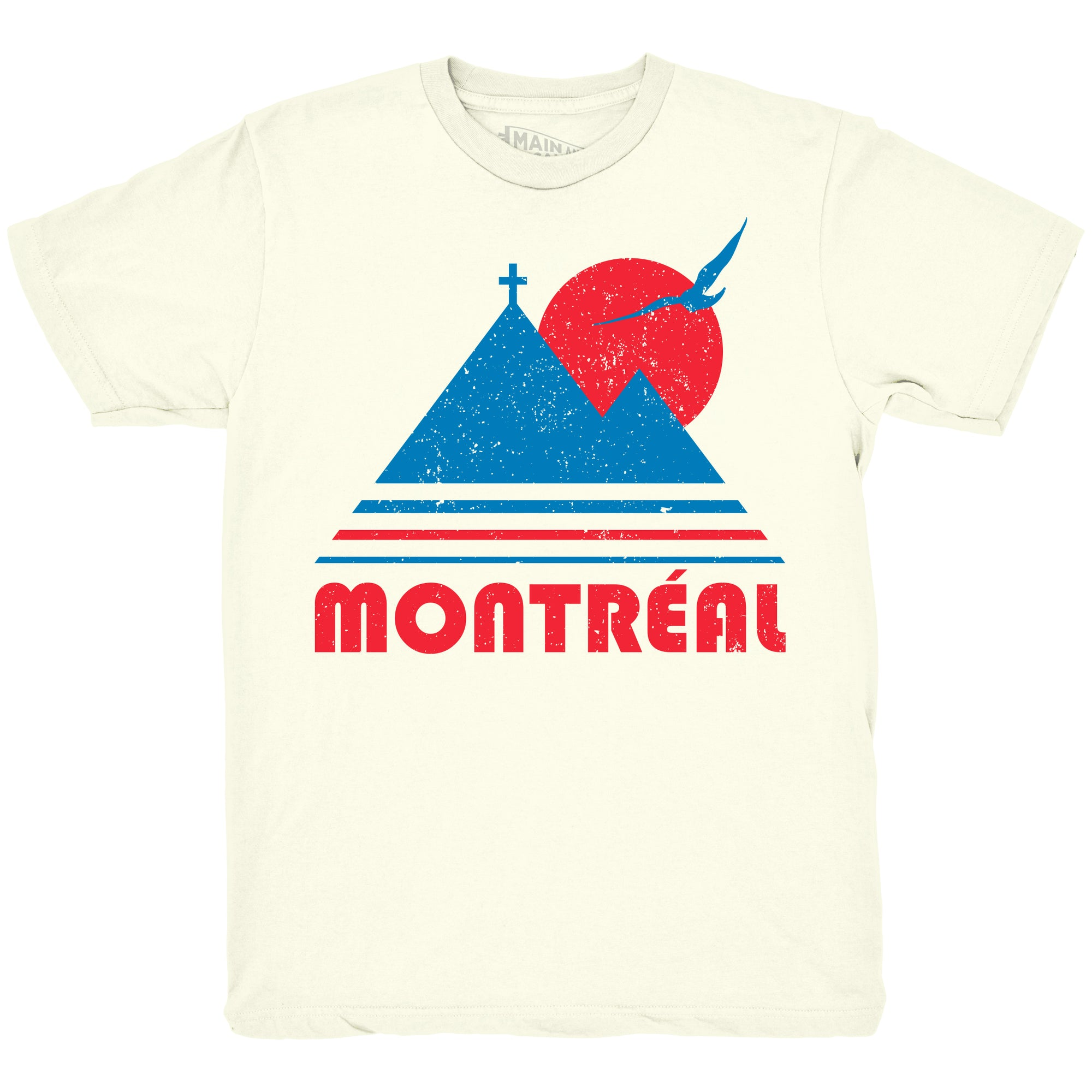 T-shirt Montréal Vintage - Main et Local