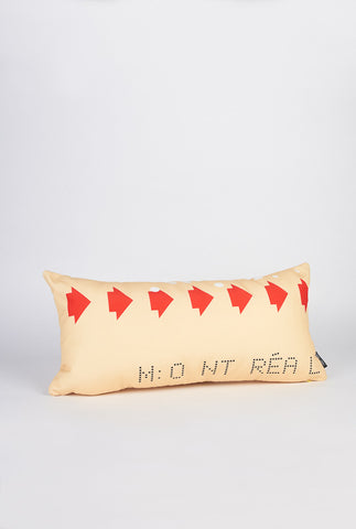 Retro Bus Transfer Pillow - Main and Local