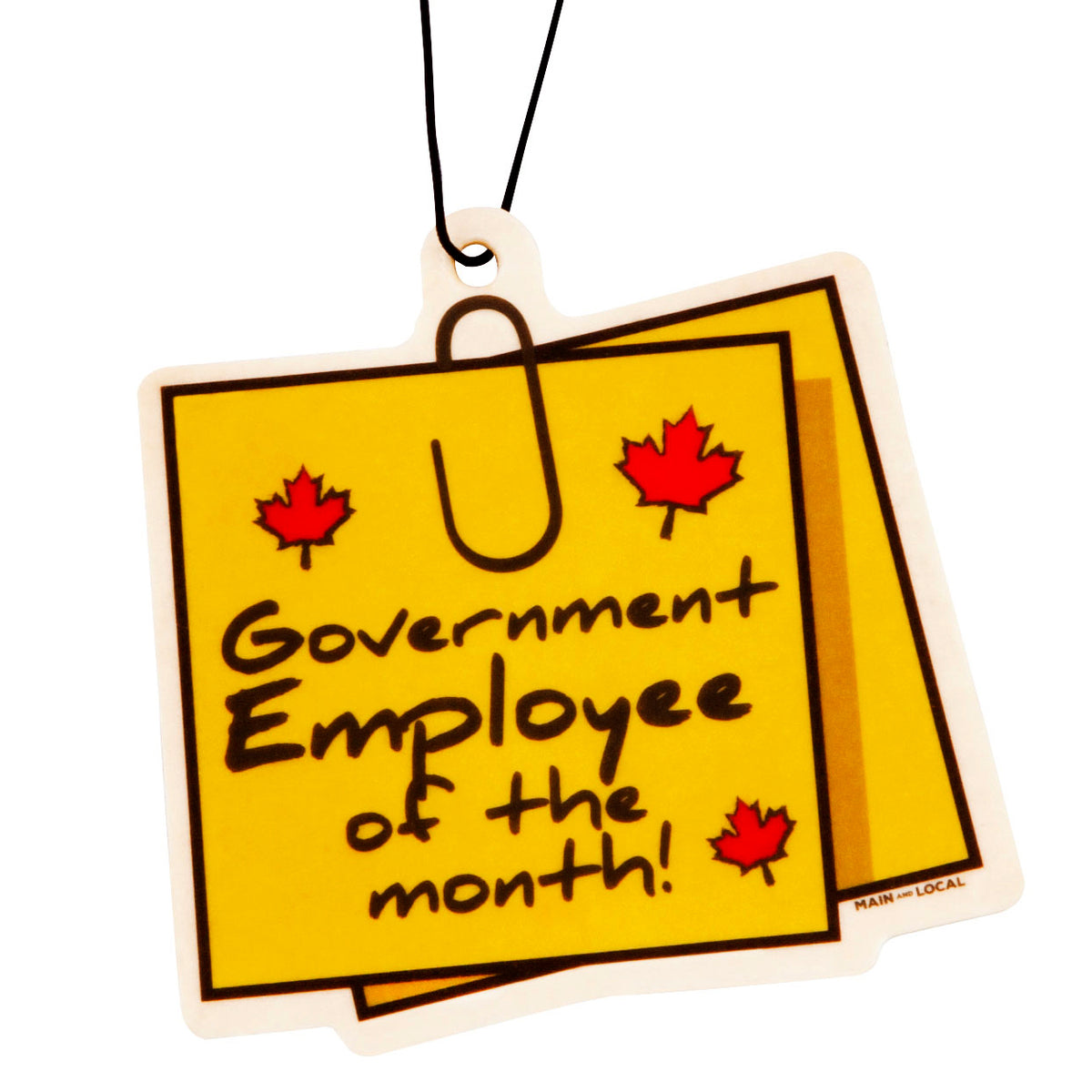Gov't Employee of The Month Air Freshener - Main and Local