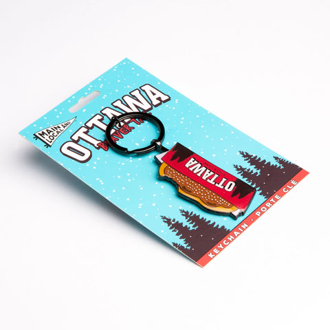 Ottawa BeaverTails® Pastry Keychain - Main and Local