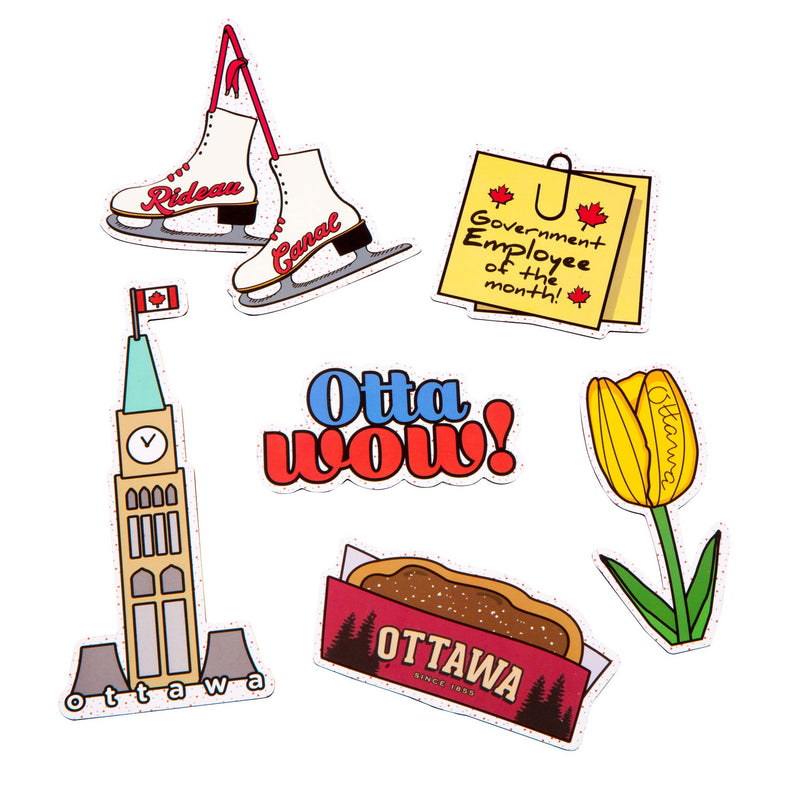 Ottawa Icon Magnet Pack - Main and Local