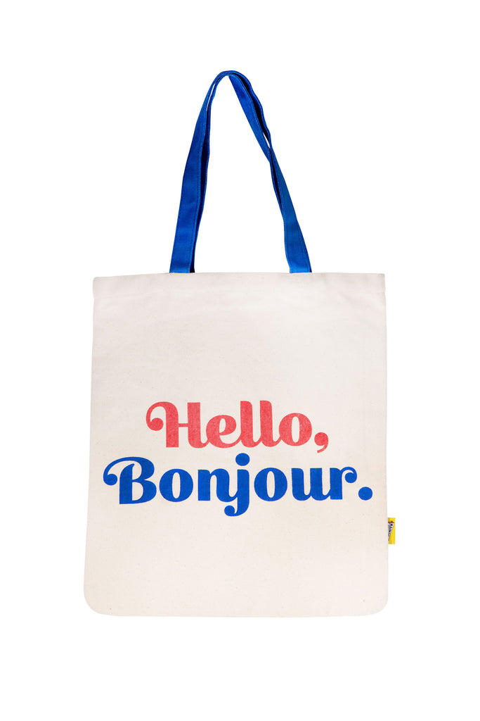 Hello Bonjour Tote Bag - Main and Local