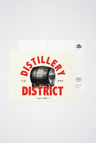 Distillery District Post Card - Main and Local